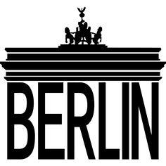 Das Brandenburger Tor mit Berlin als Säulen.