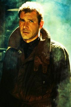 Blade Runner (dir. Ridley Scott, 1982). Deckard, played by Harrison Ford.
