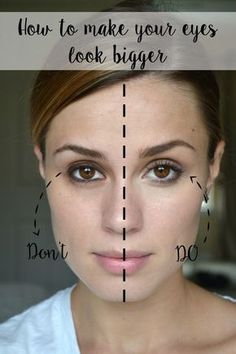 How to get bigger eyes with Loreal Makeup 101 for beginners What not to do with Makeup Make Up Loreal, Makeup 101, Skin Makeup, Beauty Makeup, Makeup Ideas, Makeup Tricks, How To Makeup, Makeup Brushes, Hair Beauty