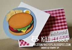 Stampin' up! Hamburger Punch Art Katie Resop at Stampin' Steps: YUMMY PUNCHES