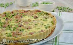 Ham pie - Sonkás pite recept A konyha világa konyhájából - Receptneked. Ketogenic Recipes, Meat Recipes, Cake Recipes, Healthy Recipes, Healthy Food, Quiches, Ham Pie, Quiche Muffins, Zucchini Puffer