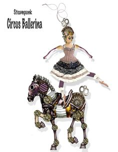 printable vintage Circus paper doll Steampunk ballerina articulated doll craft project collage sheet by Raidersofthelostart on Etsy https://www.etsy.com/au/listing/272548784/printable-vintage-circus-paper-doll