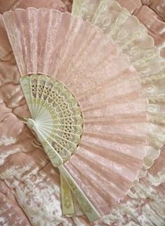 Pink And Cream Lace Fans