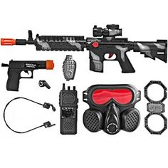 & Style Pistol Commando SWAT Force Friction Toy Gun Pretend Play Set for sale online Toys For Boys, Kids Toys, Swat Gear, Pistola Nerf, Nerf Toys, Kids Army, Kids Police, Combat Knives, Airsoft Guns