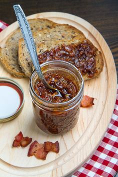 Maple Bourbon Bacon Jam. Today is International Bacon Day. Enjoy whatever Bacon your heart desire. There is Pork Bacon, Turkey Bacon, Lamb Bacon & Vegan Bacon. So Bacon it up today.:)