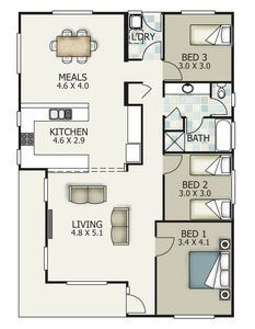 Transportable homes, Western Victoria, limestone coast. New houses country South Australia Tiny House Plans, House Floor Plans, Modular Home Floor Plans, Modular Homes, House Layouts, South Australia, Kitchen And Bath, Building A House, New Homes