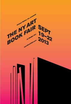 Preview Tomorrow Night, Thurs, Sept 19, 6-9p:THE NY ART BOOK FAIRMoMA PS1, 22-25 Jackson Ave., Long Island City, NYCPrinted Matter presents ...