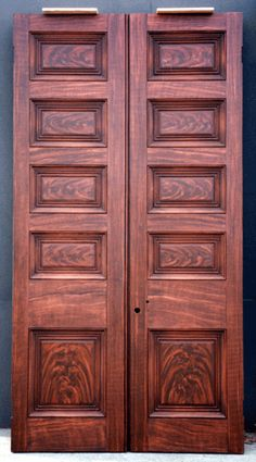 "Jim Evinczik Faux Wood Grained these doors for Andrew Jackson""s Hermitage. Picture taken before Varnishing."