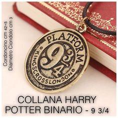 COLLANA HARRY POTTER BINARIO 9 3/4 KING CROSS LONDON € 3,50 BRONZO