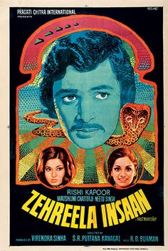 'Zehreela Insaan' (1974) vintage Bollywood poster from: The art of Bollywood | The Guardian