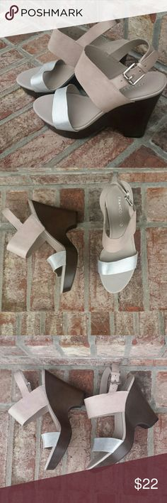 Franco Sarto Sandals Franco Sarto Sandals. EUC, worn only a few times.  Lots of life left in these beautiful sandals. Heel height 4 1/2 inches  I consider reasonable offers. Franco Sarto Shoes Sandals
