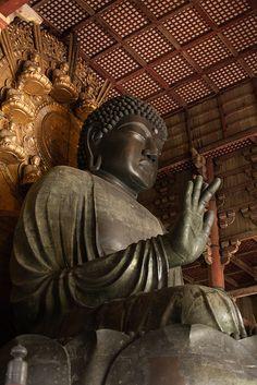 Daibutsu (Great Buddha statue) in Tōdai-ji Temple, Nara, Japan (April Nara, Todai-ji Temple, Buddha Buddhism, Buddhist Art, Japanese Temple, Famous Castles, Nihon, Travel Memories, Japanese Culture