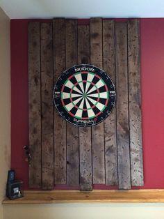 Distressed pine wood. Darts backboard