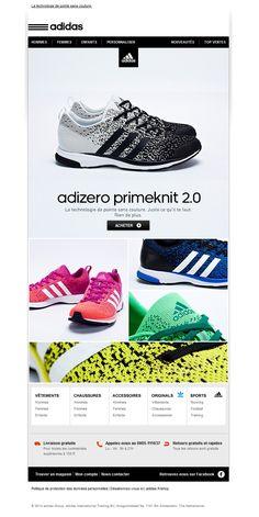 the latest dd564 cb21c Galerie de newsletters Adidas Shop - Découvre les nouvelles chaussures  adizero Primeknit 2.0