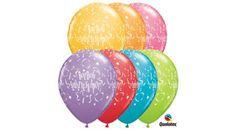 Boldog születésnapot lufi csillagos 5 db, Nicol Party Kellék Bolt