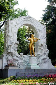 Stadtpark Vienna, Monument of Johann Strauss II