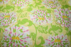"""Lilly Pulitzer fabric """"LILLY in the LEAVES"""" , 100% cotton, 18""""x18"""""""