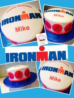 Ironman triathlon cake