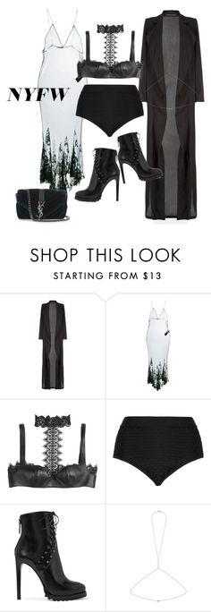 """""""#NYFW"""" by vpdcastro on Polyvore featuring Haider Ackermann, Alexander McQueen, Cactus, Alaïa, Miss Selfridge and Yves Saint Laurent"""
