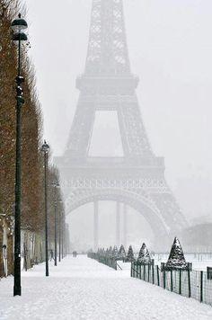 París nevada #paisajes #ciudades #nieve