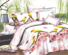 Купить постельное белье из бязи ПОПУГАЙЧИКИ 1,5-сп 3D от производителя Cleo (Россия)