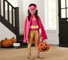 Shop Pottery Barn Kids' Halloween shop for Halloween costumes and decorations the whole family will enjoys. Discover cute costumes, treat bags, and more. Toddler Costumes, Cute Costumes, Girl Costumes, Costume Ideas, Clever Costumes, Superhero Halloween Costumes, Halloween Kostüm, Costume Super Hero, Girl Superhero Party