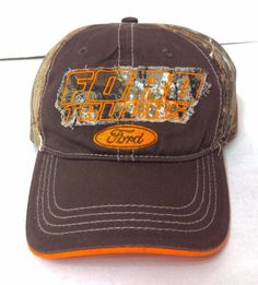 New FORD TRUCKS HAT Camouflage/Camo Brown & Orange Hunting Relaxed-Fit Men/Women #H3Headwear #BaseballCap