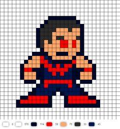 Wonder Man Perler Bead Pattern