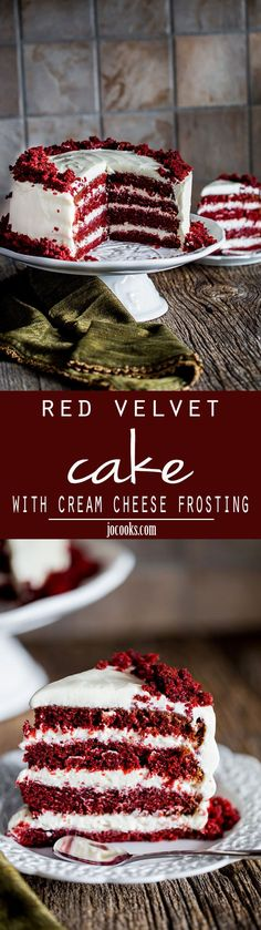 Red Velvet Cake with Cream Cheese Frosting - this super moist and tender red velvet cake makes for a divine and dramatic cake topped with an easy cream cheese frosting. (Chocolate Cake With Pudding) Cupcake Recipes, Cupcake Cakes, Dessert Recipes, Icing Recipes, Cake Icing, Just Desserts, Delicious Desserts, Yummy Food, Italian Desserts