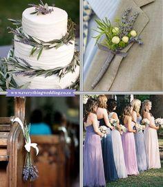 More inspiration for a lavish lavender wedding!