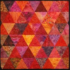 Triadic colours in quilt from snip and stitch blog