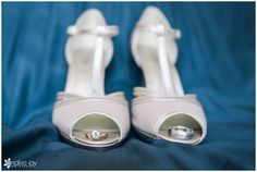 Wedding: Clint & Erika // San Diego Public Library, San Diego, CA » Analisa Joy Photography // wedding shoes and wedding bands