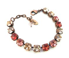 Summer Lovin' Swarovski crystal tennis bracelet in by SiggyJewelry