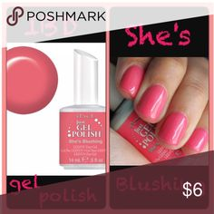 IBD Gel Polish- She's Blushing New full size IBD gel polish in She's Blushing. Brilliant bright pink color. This gel needs to be cured with LED/ UV light IBD Makeup