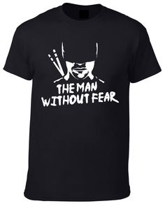 bc9ef651aaa65 Daredevil inspired The Man Without Fear T-Shirt - Available in Men s and  Women s by JeanpoolClothing on Etsy