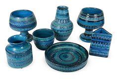 Bitossi Rimini Blu Pottery, 7 Pcs. on OneKingsLane.com
