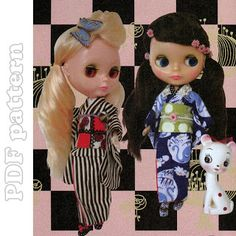 Blythe Kimono and Socks Sewing Pattern PDF | CraftyLine e-pattern shop