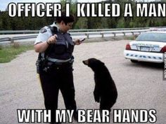 Bear and a Police Man | Animals Memes
