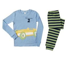 car birthday pjs to go with the theme