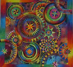 "The Colourful Quilt (Jacqueline de Jonge design), ""I'm just spinning ..."