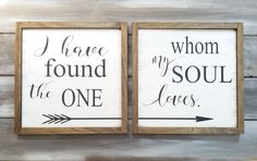 Set: I Have Found The One Whom My Soul Loves by BLSIGNS on Etsy