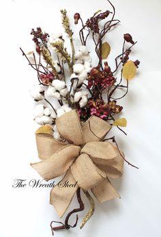 2nd Anniversary Bouquet, Natural Cotton Bolls, Cotton Anniversary Gift, Cotton Hydrangea Arrangement, Bridal Bouquet, Wedding Decor, Cotton