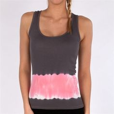 P.J. Salvage Tie-Dye Sleep Tank #VonMaur #PJSalvage #Grey #Pink #Pajama #TieDye