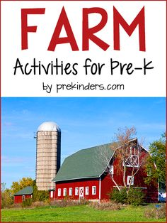 Farm Activities for Pre-K, Preschool