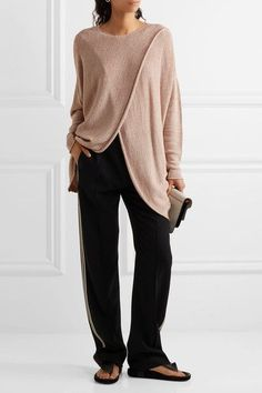 Stella McCartney | Draped stretch-knit sweater | NET-A-PORTER.COM