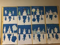 Art For Kids, Christmas Decorations, Flag, School, Happy, Winter Time, Winter, Projects, Snowman
