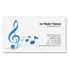 Musician/Music Teacher Business Card   Music teachers