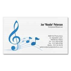 12 Best Musician Business Card Images