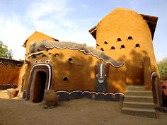 This is Chadian house is made out of stone and wood. Just like most architecture in Chad it was built and influenced by French artists. This house was constructed in a small village in Chad Africa. It is constructed to fit a whole family. Vernacular Architecture, Ancient Architecture, Sustainable Architecture, Beautiful Architecture, Art And Architecture, Pavilion Architecture, Residential Architecture, Contemporary Architecture, African Design