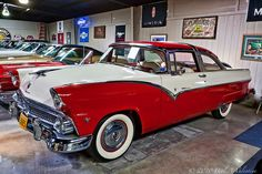 1955 Ford Crown Victoria with chrome across top. A very nice car